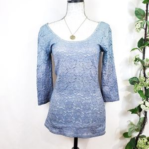 Pins & Needles UO • Ombre Lace top